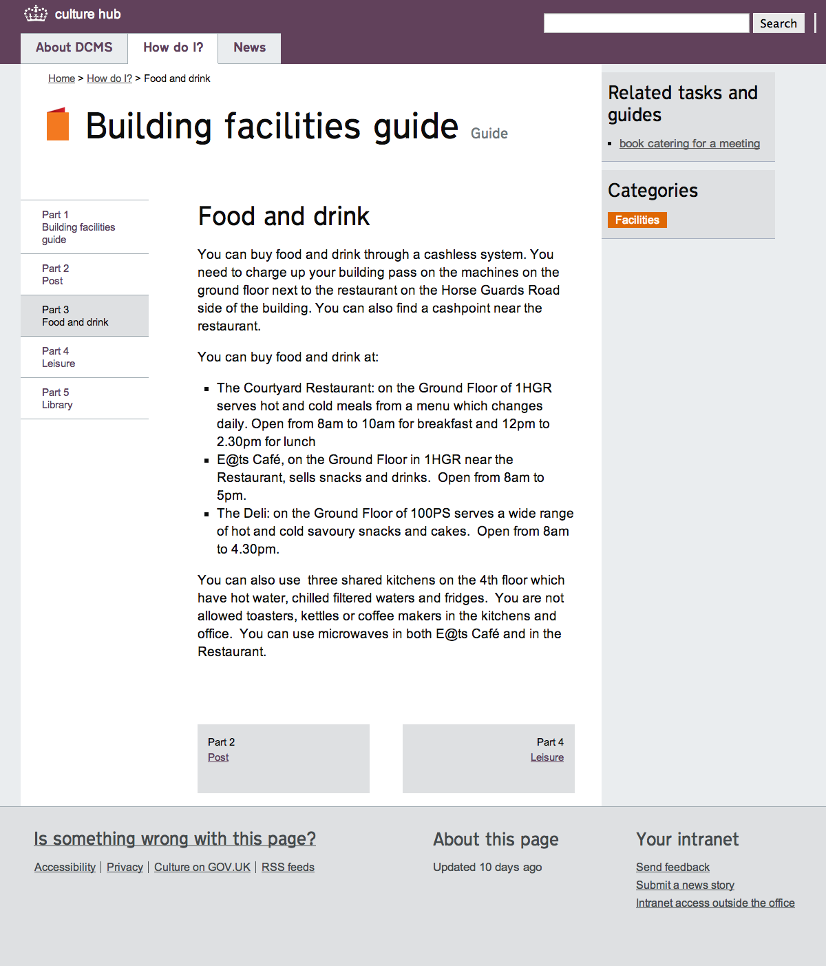 Food and drink | culture hub tasks and guides
