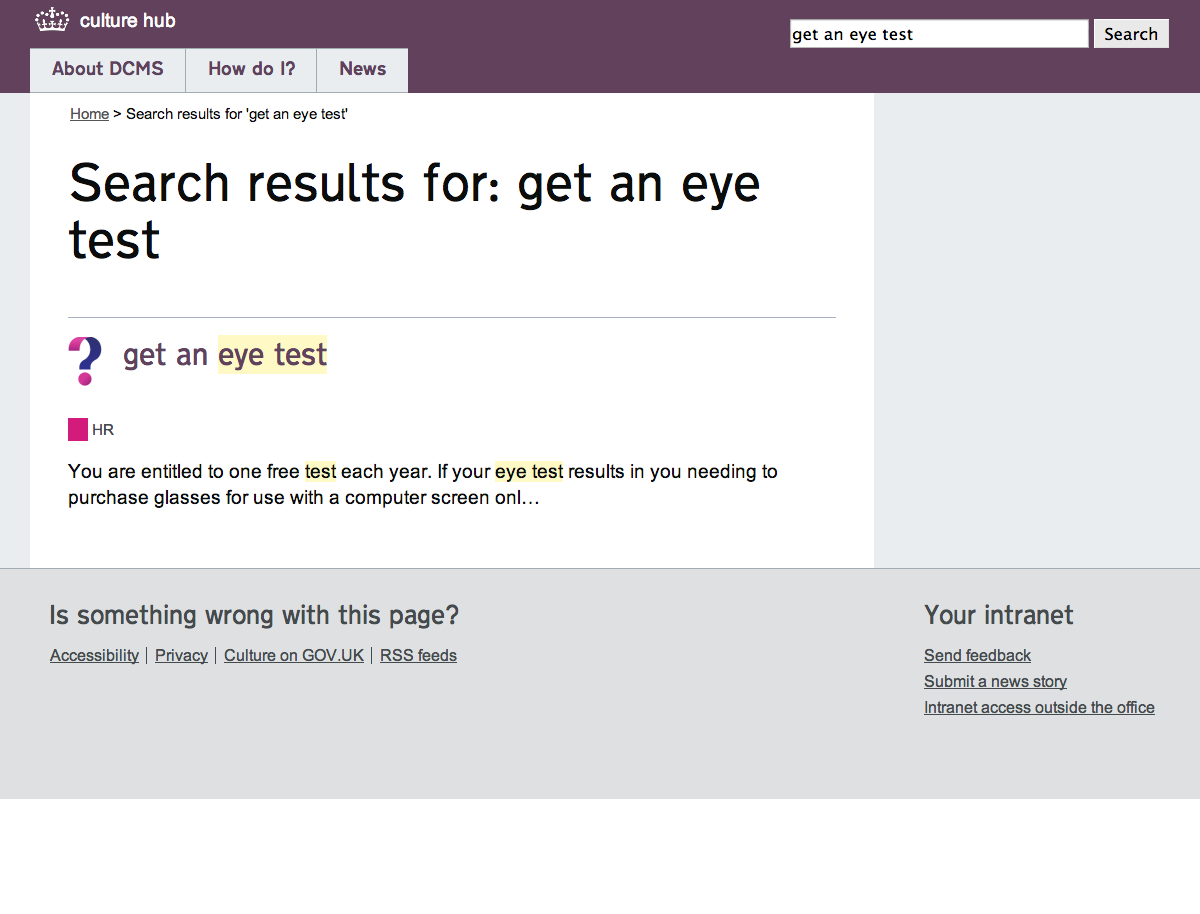 Search results for get an eye test | culture hub