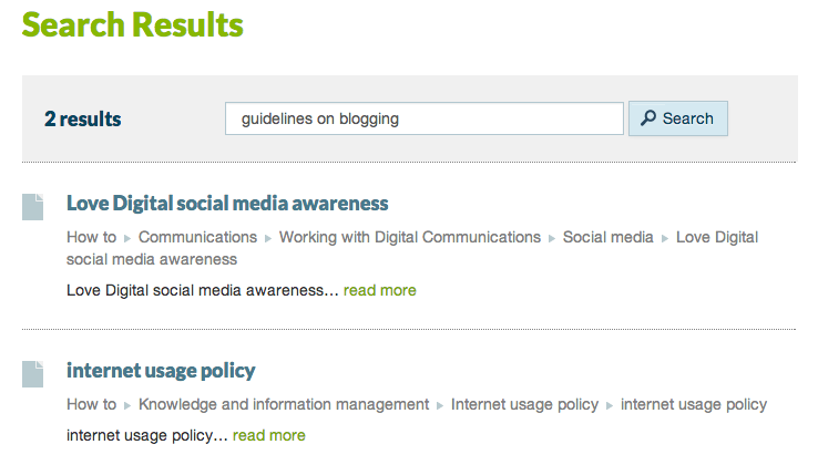 Intranet A: guidelines on blogging