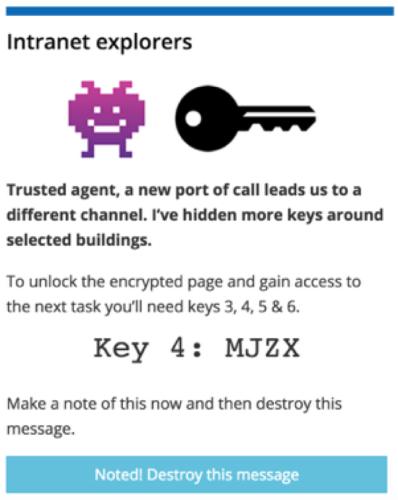 treasure hunt key