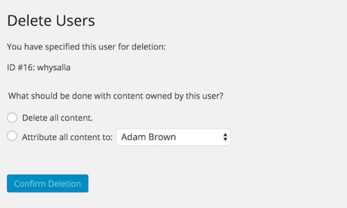 Delete a user