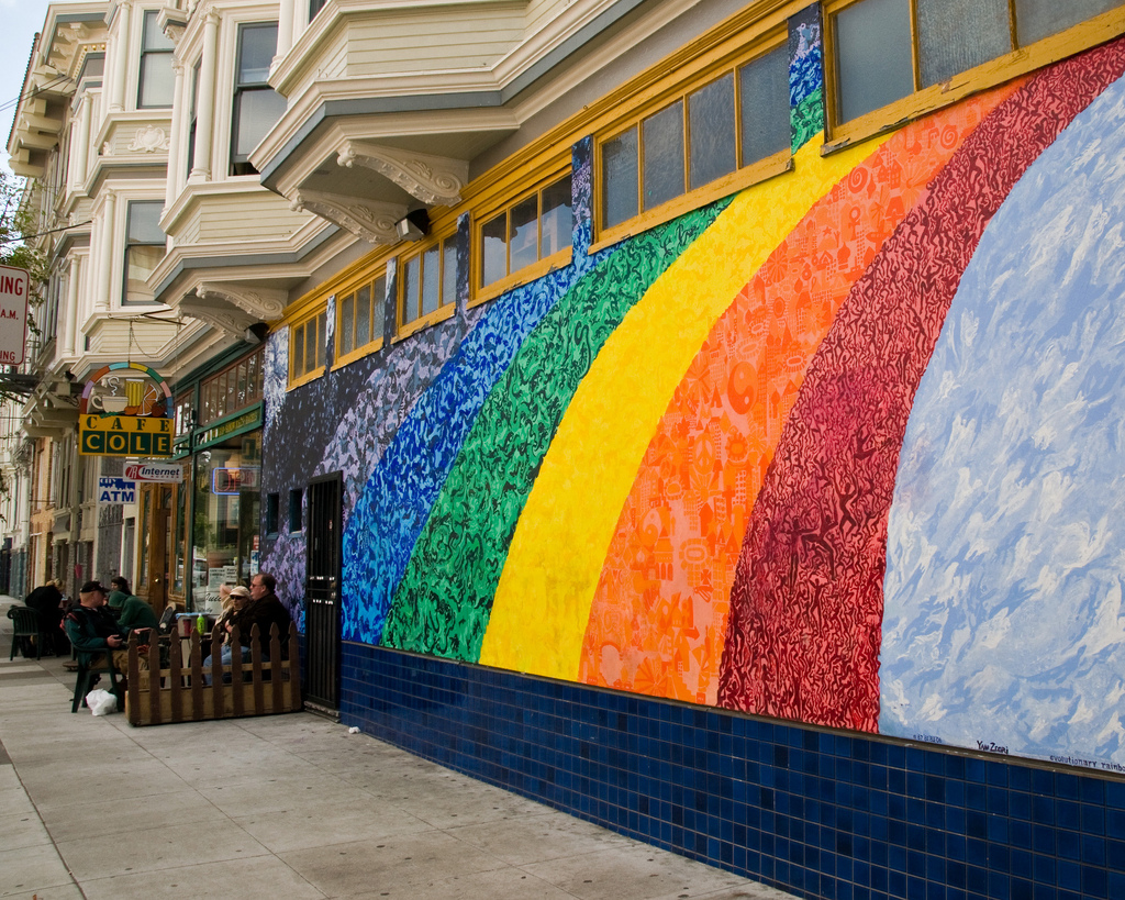 Rainbow Wall, San Fransisco, by Tony Fischer
