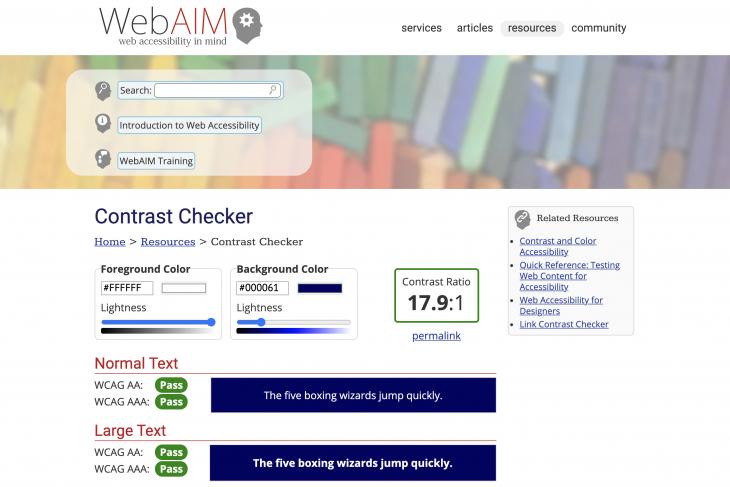 GovIntranet accessibility checker