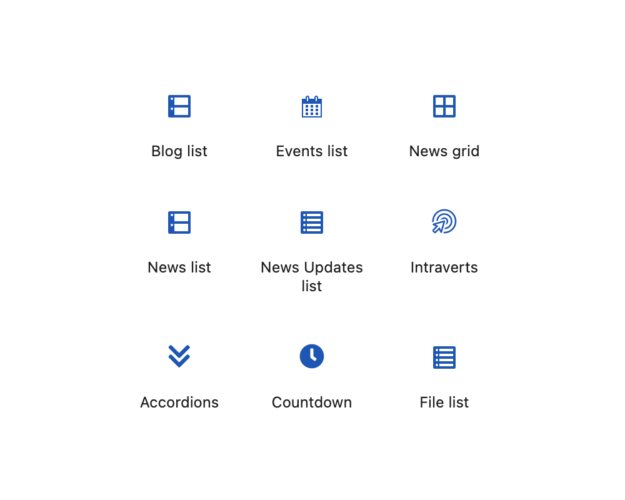 GovIntranet and the block editor